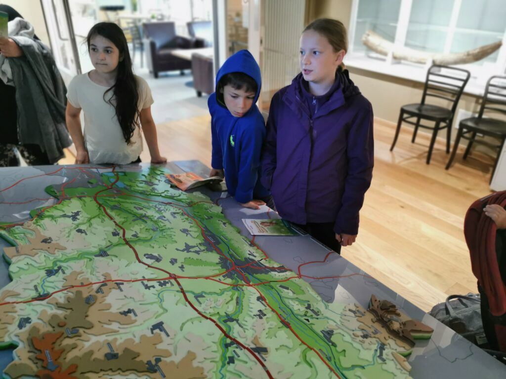 interactive map at West Berkshire Museum