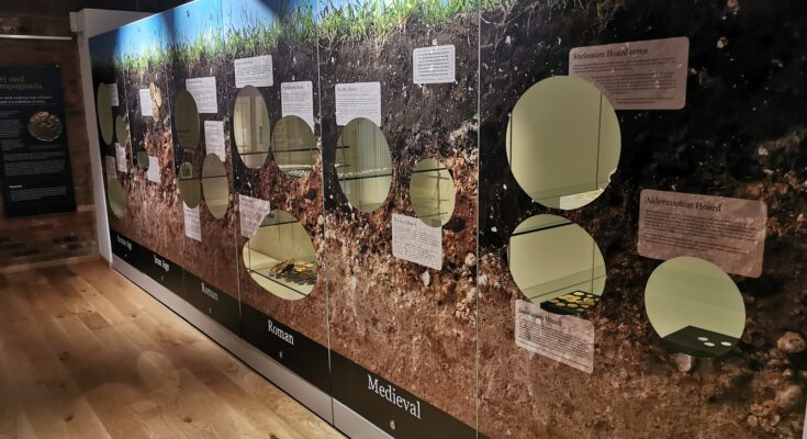 Museum exhibition on metal detecting finds
