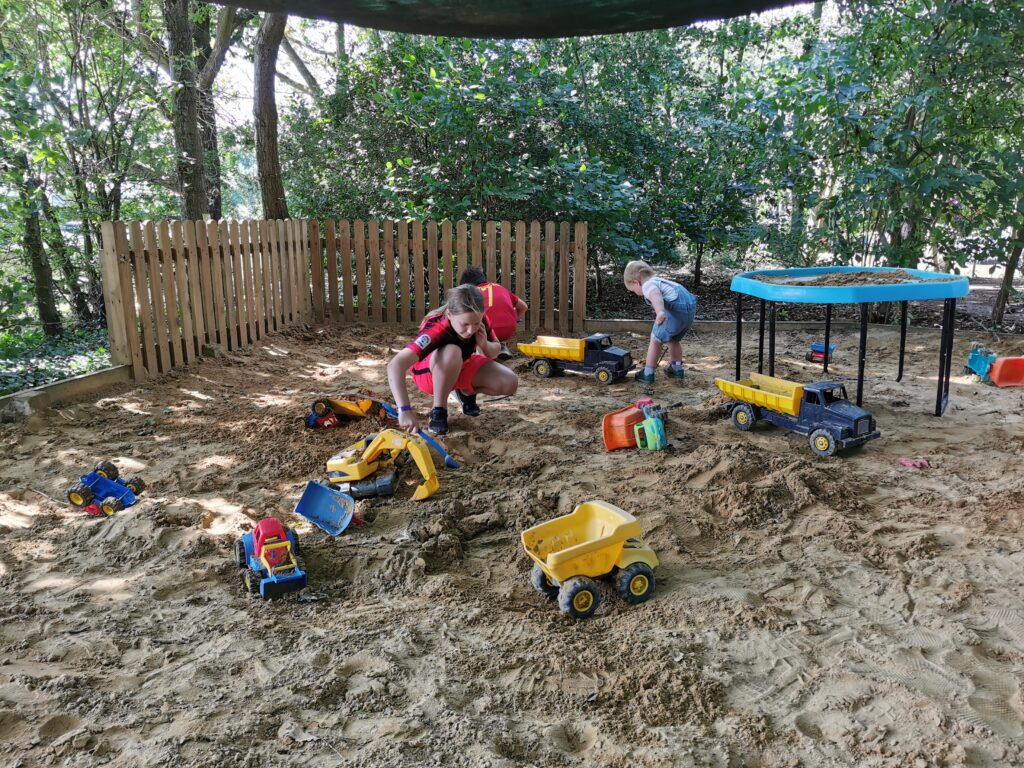 Sand pit in the woods at Millets Maize Maze