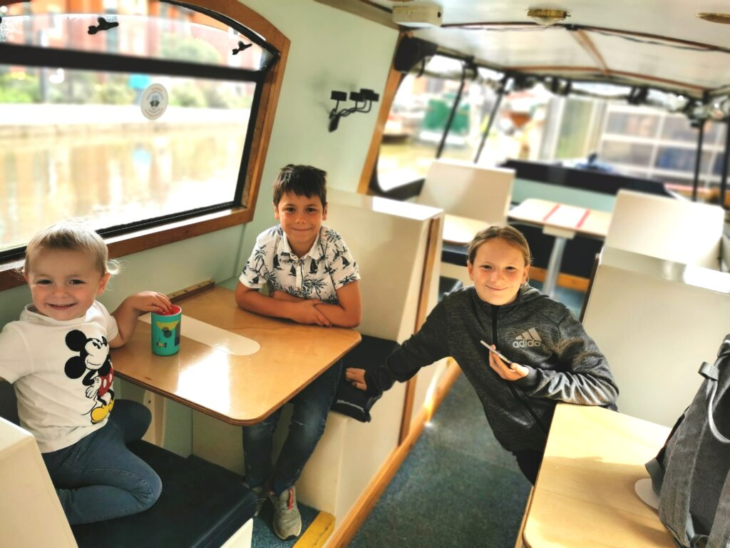 Aboard the Dancing Duck at Tooley's Boatyard