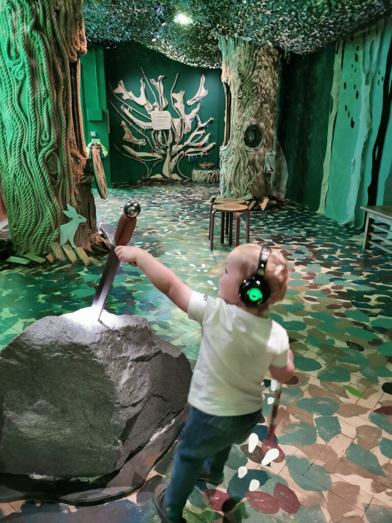 Sword in the stone at The Story Museum